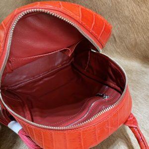 Crocodile Vegan Structured Dome Fashion Backpack