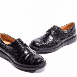 Crocodile Gator Print Dress Shoes
