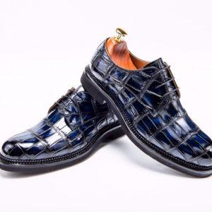 Men's Derby Dress Shoes Crocodile Leather