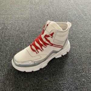 Fabric & Calfskin Leather Men's Sneaker