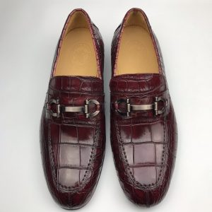 Men Slip On Crocodile Shoes Casual Comfortable Flats