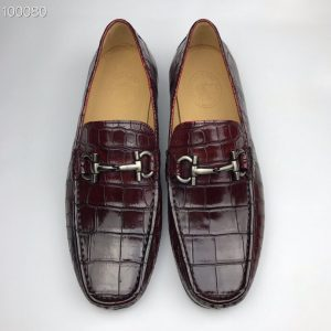 Crocodile Leather Men's Penny Loafer