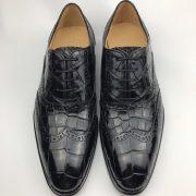 Men's Genuine Crocodile Lace up Oxford Dress Shoes