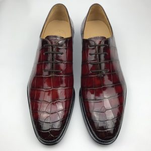 Oxford Crocodile Dress Shoes Comfortable Classic Design