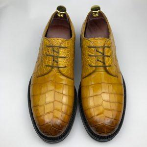 Crocodile Men's Rounded Toe Derby Dress Shoe