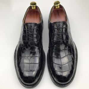 Genuine Leather Derby Handmade Crocodile Lace Up Oxford Dress Shoes
