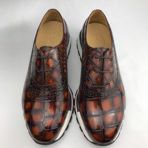 Men's Crocodile Oxfords Shoes Brogue Casual Dress