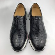 Men's Crocodile Leather Oxford Shoes Casual Sneaker