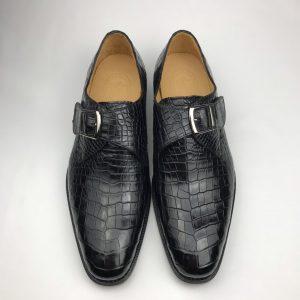 Crocodile Monk Strap Men's Shoe