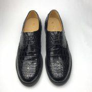 Exotic Men's Crocodile Leather Wingtip Shoes