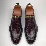 Genuine All Real Crocodile Skin Dress Shoe