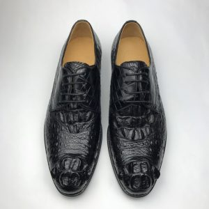 Horn back Crocodile Low Top Derby Shoes