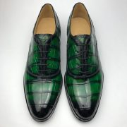Crocodile Pattern Oxford Shoes Formal Style