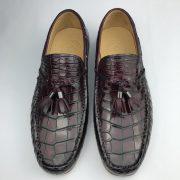 Crocodile Leather Church Tassel Loafers