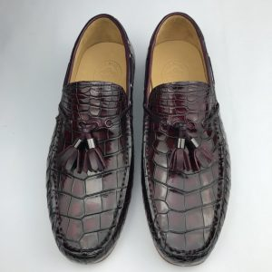 Crocodile Leather Church Tassel Loafers