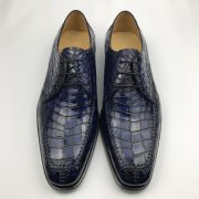Genuine Crocodile Oxford Laces Leather Brogues Shoes