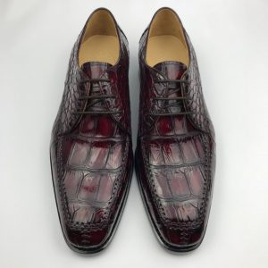 Genuine Crocodile Leather Derby Shoes