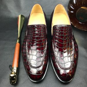 Men Dress Loafers Crocodile Prints Slip on