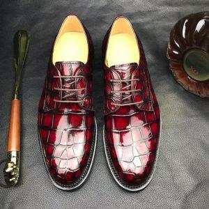 Men Crocodile Walking Formal Business Shoes