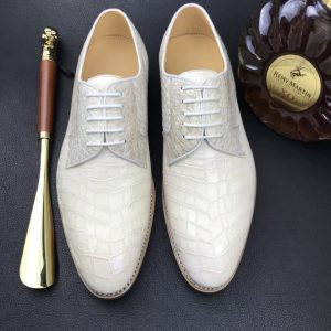 Crocodile Luxury Textured Leather Derby Dress Shoes