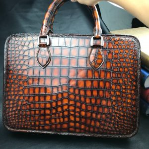 Crocodile men's Fashion Exotic Skin Bag