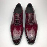 Men Dress Shoes Crocodile Pattern Oxford Business Shoe