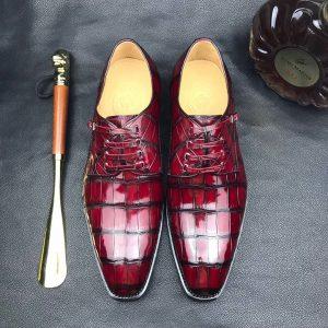 Men's Business Shoes Crocodile Derby British Style