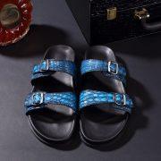 Men's Open Toe Crocodile slippers