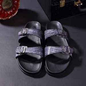 Men Youth Trend Crocodile Beach Slippers