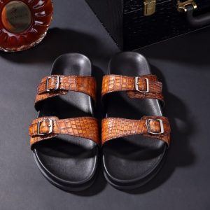 Crocodile Slippers Sandal Casual Slip On Style