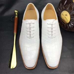 Mens Handcrafted Crocodile Oxford Shoe