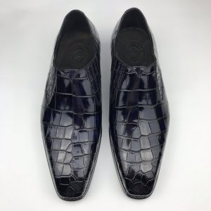 Loafers Men Crocodile Leather Fashion Slip-on Shoes
