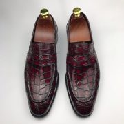 Dress Shoes Crocodile Print Loafer Genuine Leather