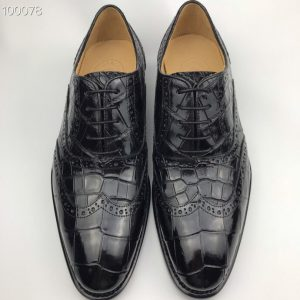 Men's Crocodile with Leather Sole Oxford