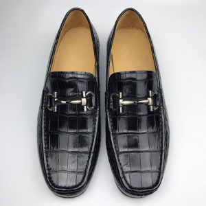Crocodile Leather Casual Slip On Shoes Comfortable Loafer