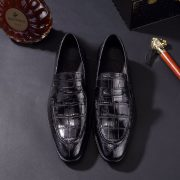 Men's Soft Crcodile Genuine Leather Penny Loafers