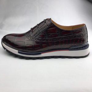 Crocodile Mens Fashion Sneaker Brogue Oxford