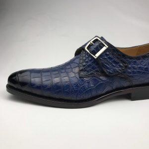 Men's Crocodile Print Loafers Buckle Fashion Shoes