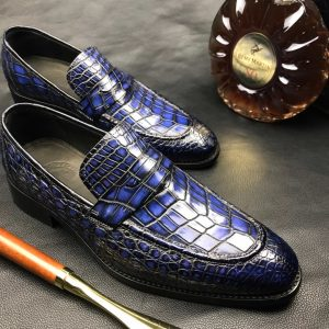 Mens Dress Shoes Genuine Crocodile Boat Shoes