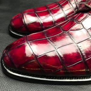 Glossy Crocodile Pattern Oxfords Dress Shoes