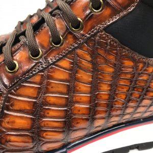 Men's Genuine Crocodile Real Skin Fashion Sneaker