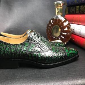 Crocodile Pattern Oxford Shoes Dress Shoes
