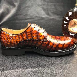 Men's Classic Modern Crocodile Formal Derby Shoe