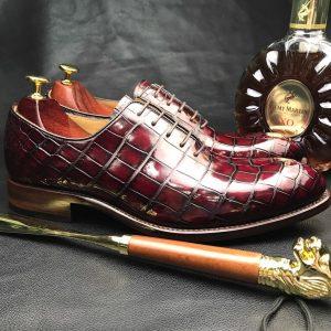 Men's New Genuine Crocodile Oxford Shoes