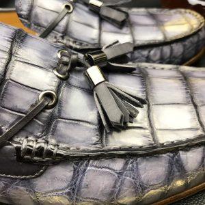 Men's Loafers Excellent Soft Crocodile Skin Flats