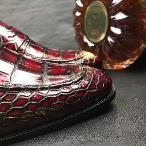 Men Crocodile Dress Shoes Peas Shoes