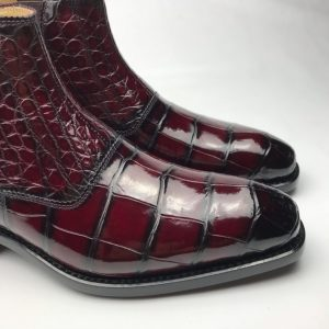 Crocodile Deluxe Strap Stitching Boots