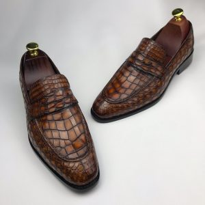 Crocodile Men's Slip On Formal Classic Shoes