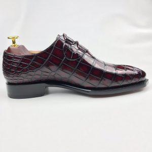 Men's Genuine Crocodile Oxford Shoes Lace Up Shoes