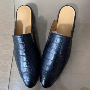 Men Summer Slippers Shoes Leather loafers